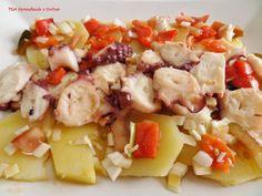 Aprendiendo a cocinar: ENSALADA DE PULPO ASADO CON PATATAS Y UNA RICA VINAGRETA