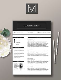 Resume, Cover letters and Cv template on Pinterest