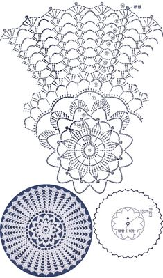 How to Crochet a Solid Granny Square Free Crochet Doily Patterns, Crochet Doily Diagram, Crochet Pillow Pattern, Crochet Symbols, Crochet Circles, Crochet Chart, Thread Crochet, Crochet Motif, Crochet Stitches