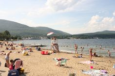 "Million Dollar Beach, Lake George, NY named for its ""million dollar"" view! - Another great family spot to spend the day at the Lake! Lake George Ny, Lake George Village, Summer Vacation Spots, Fun Winter Activities, Lake Life, Great Memories, Best Vacations, The Great Outdoors, Wonders Of The World"
