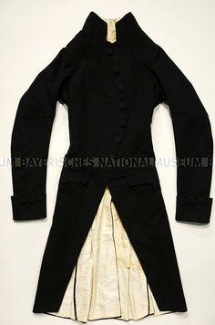 Männerrock England ( ) um 1800 Oberstoff   Polsterung  Wolle    Leinwandbindung Futterstoff der 862fbb05ab