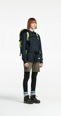 2017 SS new work u . Hiking Dress, Hiking Wear, Hiking Fashion, Sport Fashion, Womens Fashion, Mountain Fashion, Trekking Outfit, Winter Outfits, Cool Outfits