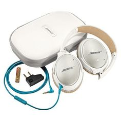 Bose QuietComfort 25 Acoustic Noise Cancelling Headphones for Samsung and Android devices, White (wired, White Headphones, Best Headphones, Over Ear Headphones, Bose Noise Cancelling, Best Noise Cancelling Headphones, Audio, Thing 1, Gadget Gifts, Apple Products