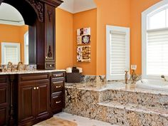Burnt Orange Paint Color To Accompany Gray/white. | Front Guest Bathroom |  Pinterest | Burnt Orange Paint, Burnt Orange And Granite