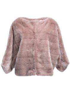 VALENTINO Cropped Mink Jacket