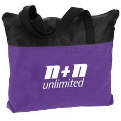 Logo'd bag is light as air but shoulders your strong message!