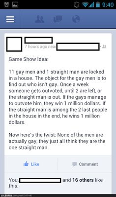 Best game show idea ever. I'd totally watch this.