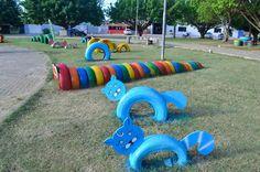 decoração de parques com pneus reciclados - Pesquisa Google