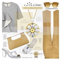 """TOTWOO SMART JEWELRY"" by katjuncica ❤ liked on Polyvore featuring Marni, The Row, Simone Rocha, Martha Stewart, Giorgio Armani, Judith Leiber and totwoo"