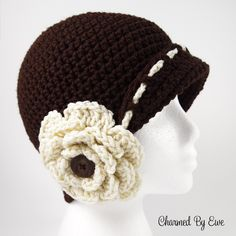 A vintage inspired hat with a whimsical flower that is perfect for the Fall and Winter seasons. Pattern is written using US Terms Skill level: Easy Sizes include: Newborn, 0-3 Months, 3-6 Months, 6...