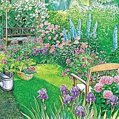 Ideen für lange, schmale Gärten