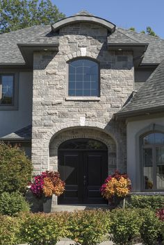 Brampton Brick's Century Stone captivates with the ageless beauty and elegance of classic stonework. Ageless Beauty, Brickwork, Household, Exterior, House Design, Mansions, Stone, Future, Elegant