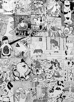 Mural tinta china