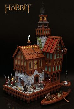 Lake-town by Fianat, via Flickr I love the bricks sticking out of the wall via the hinges. Very clever