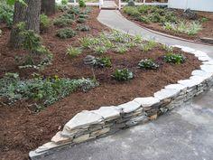 flagstone retaining wall ideas   ... Custom Stonework Amp Landscape Design Retaining Walls In Greensboro Nc