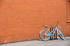 bike bicycle basket bricks wall street