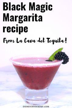 Black Magic margarita recipe – Disney in your Day Disney Inspired Food, Disney Food, Disney Diy, Disney Recipes, Disney Travel, Disney Parks, Best Margarita Recipe, Margarita Recipes, Cocktail Recipes
