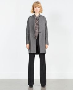ZARA - COLLECTION SS16 - MASCULINE WOOL COAT