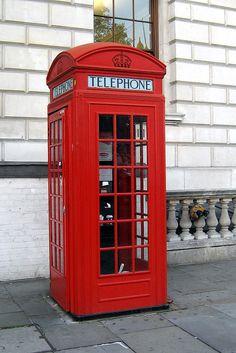 UK - London: K2 Red Telephone Box by wallyg, via Flickr