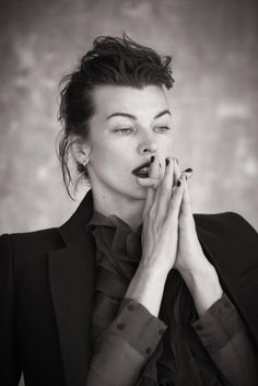 "edenliaothewomb: "" Milla Jovovich, photographed by Matthew Brookes for L'Express Styles magazine, 2013. (click the image for EXTREMELY high-res photo.) """