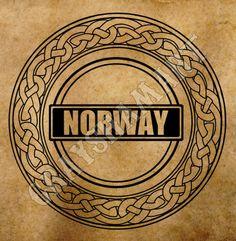 Norway culture scandinavian sign digital print tourism logo heraldic advertising marketing souvenir production by GrayshamArt on Etsy