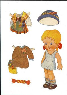 Older Swedish doll.* 1500 free paper dolls for small Christmas gits and DIY for Pinterest pals The International Paper Doll Society Arielle Gabriel artist ArtrA Linked In QuanYin5 *