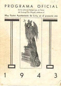 Cubierta Libro de Fiestas de 1943. Este fue el primer libro que conservamos y que pasamos a formato digital.