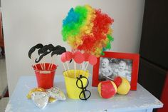 Photo Props for a Circus Party #circus #photoprops