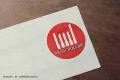 Logo Mockup Design for the Logo Design - Music Volume design. Logo Design, Graphic Design, Mockup, Company Logo, Website, Logos, Music, Musica, Musik