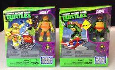 Set of 2: Mega Bloks Teenage Mutnat Ninja Turtles Mikey & Raph Figure Packs TMNT #MegaBloks