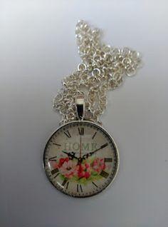 colgantes camafeo reloj vintage