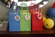 Last minute angry birds party bags