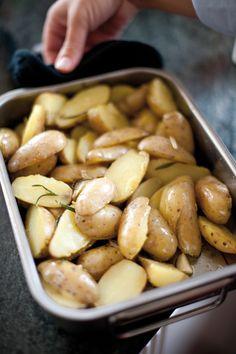 Aardappelen in de oven met rozemarijn