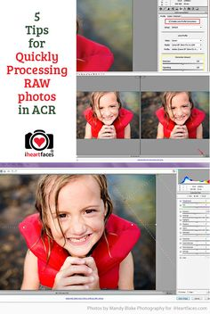 5 Tips for Maximizing Camera RAW Processing in ACR. http://www.iheartfaces.com/2015/01/how-to-edit-camera-raw-photoshop/