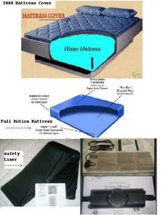 "Queen Size Free Flow Waterbed Mattress With Cover by Classic, Calesco & Blue Magic. $220.00. Mattress set includes a Queen Size 60w x 84L Free Flow Mattress with 2000 Zipper Cover, Solid State Heating System, Safety Liner & Fill Kit W/ Conditioner.  ""Platform, Base & pillows are not Included""  Full Wave mattress has about 10-15 seconds of movement.  ""This is the old school waterbed mattress."" * It is made out of heavy 25 mil virgin vinyl with reinforced corner..."
