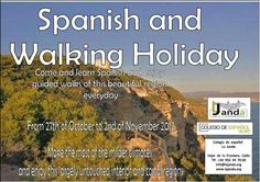 SPANISH & WALKING COURSE DURING THIS AUTUMN BREAK (Sunday, October 27th – Saturday, November 2nd)