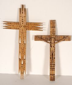 clothes pin cross   1071: Pair of Clothes Pin Crosses.