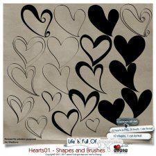 Hearts 01 - Shapes and Brushes by Eirene Designs cudigitals.com cu commercial scrap scrapbook digital graphics#digitalscrapbooking #photoshop #digiscrap #scrapbooking