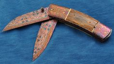 Folding knife made by Johan Gustavsson. #knife #foldingknife