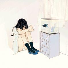 Image about text in ✨illustration of love✨ by Boss Aesthetic Drawing, Aesthetic Art, Aesthetic Anime, Anime Gifs, Anime Art, Kawaii, Korean Artist, Art Inspo, Art Girl