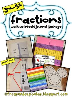 Tales of Frogs and Cupcakes: Fractions Math Notebook/Journal Package