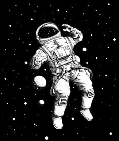 This illustration is edited with another original image to make a better look for space, planet and astronaut, Also you can buy this astronaut illustration as a design on your T-shirt by visiting the link, We hope you like it. Astronaut Tattoo, Astronaut Drawing, Astronaut Illustration, Illustration Art, Space Drawings, Space Artwork, Space Painting, Easy Drawings, Astronaut Wallpaper