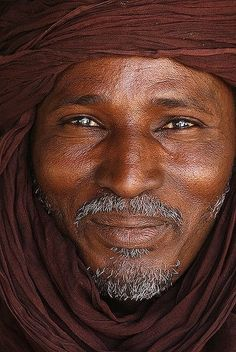 Portrait of a Tuareg man, Libya