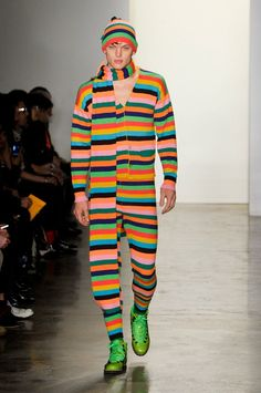 Jeremy Scott Fall 2012 ... because I do not understand your message and only understand a portion of his opinion, could only run one color ... via @kennymilano