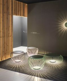 Vibia   Contemporary combination garden stools and sculptural garden lights   From 2014 Frankfurt Light & Building exhibition @Light_Building