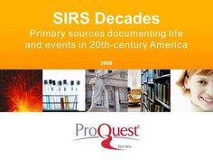 SIRS Decades Primary sources documenting life and events in 20th-century America 2008.>