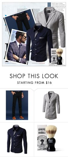 """""""Rosegal 81/ II"""" by emina-095 ❤ liked on Polyvore featuring Hawkins & Brimble, men's fashion, menswear, polyvoreeditorial and rosegal"""