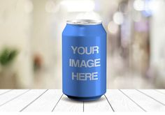Realistic Soda Can Label Online Mockup Template | ShareTemplates
