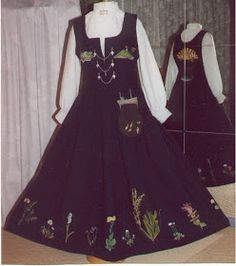 Hello all, Part three of this overview is forthcoming. I was asked about the costumes of Trondelag, and so I wrote this one fi. Norwegian Clothing, Norway, All Things, Scandinavian, Costumes, Embroidery, Clothes, Dresses, Fashion