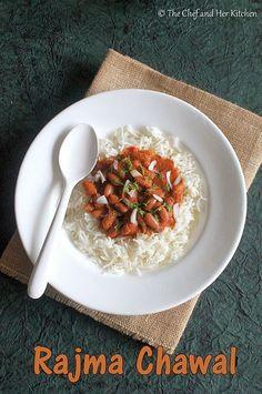 THE CHEF and HER KITCHEN: Rajma Chawal Recipe | Punjabi Rajma Chawal
